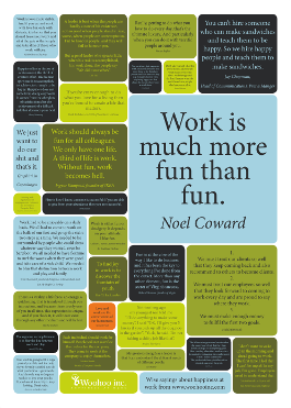 Wise sayings about happiness at work - citatplakat